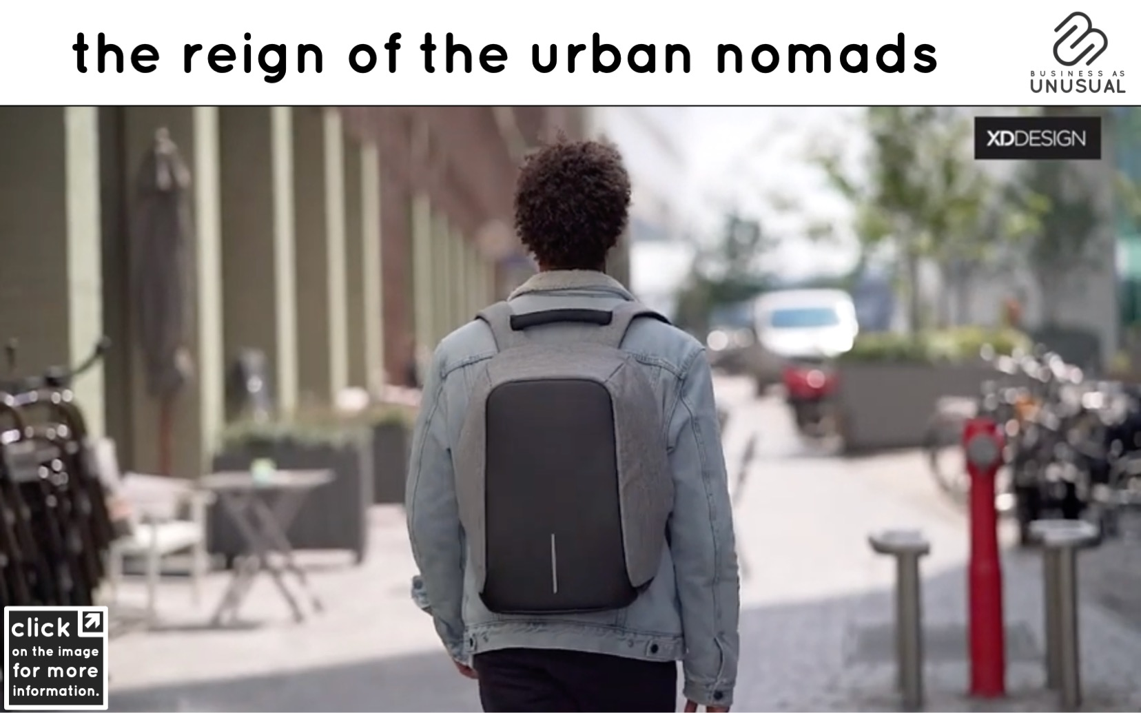 The Reign of the Urban Nomads - Bobby Anti-theft Backpack
