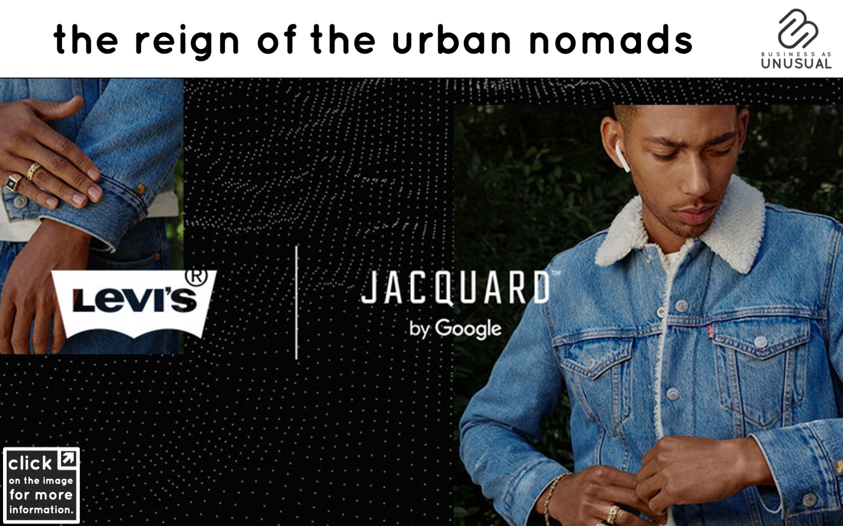 The Reign of the Urban Nomads - Levi's Jacquard Jacket