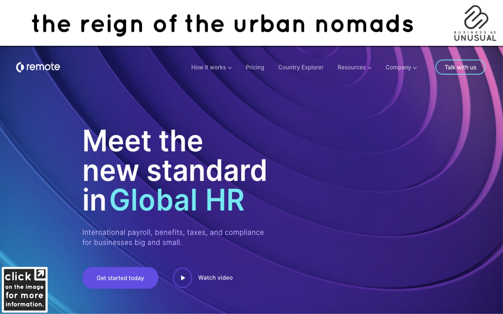 The Reign of the Urban Nomads - Remote